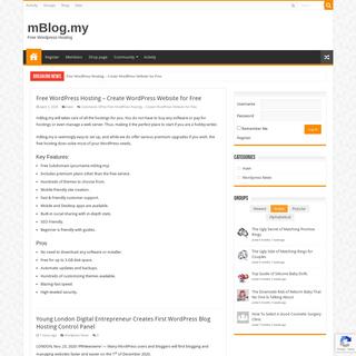 mBlog.my – Free WordPress Hosting