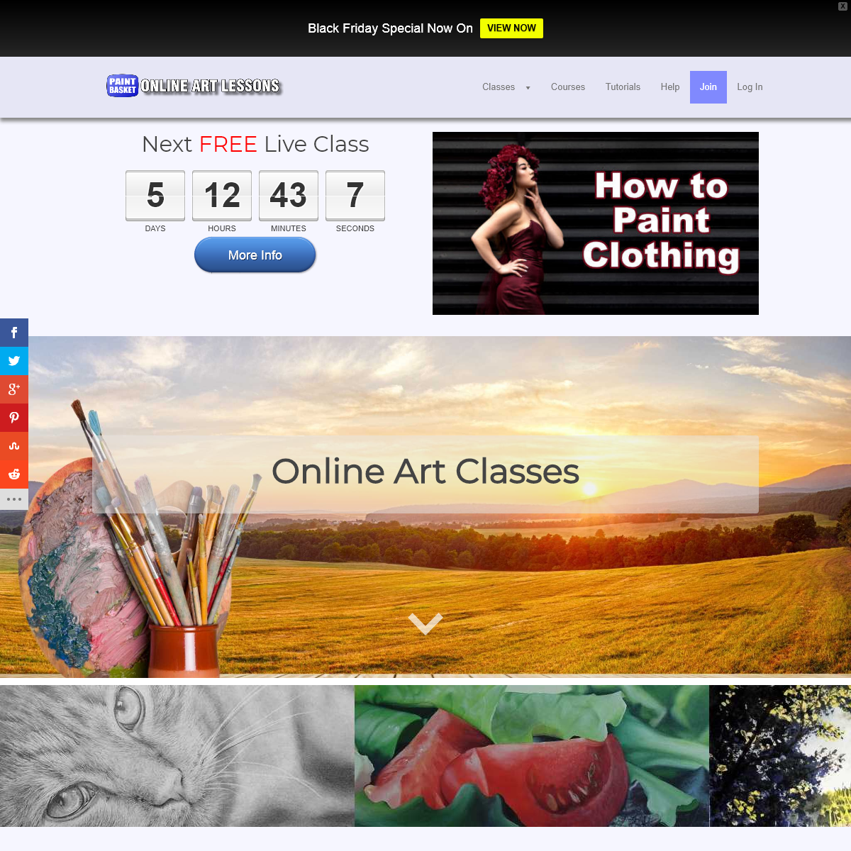 Online painting and drawing classes & lessons — Online Art Lessons