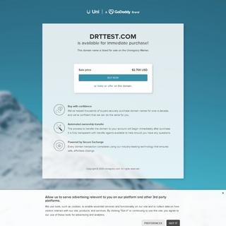The domain name DRTTEST.COM is for sale - Uni Market