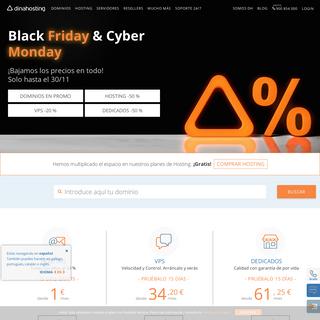 Black Friday & Cyber Monday ¡bajamos los precios en todo! - dinahosting
