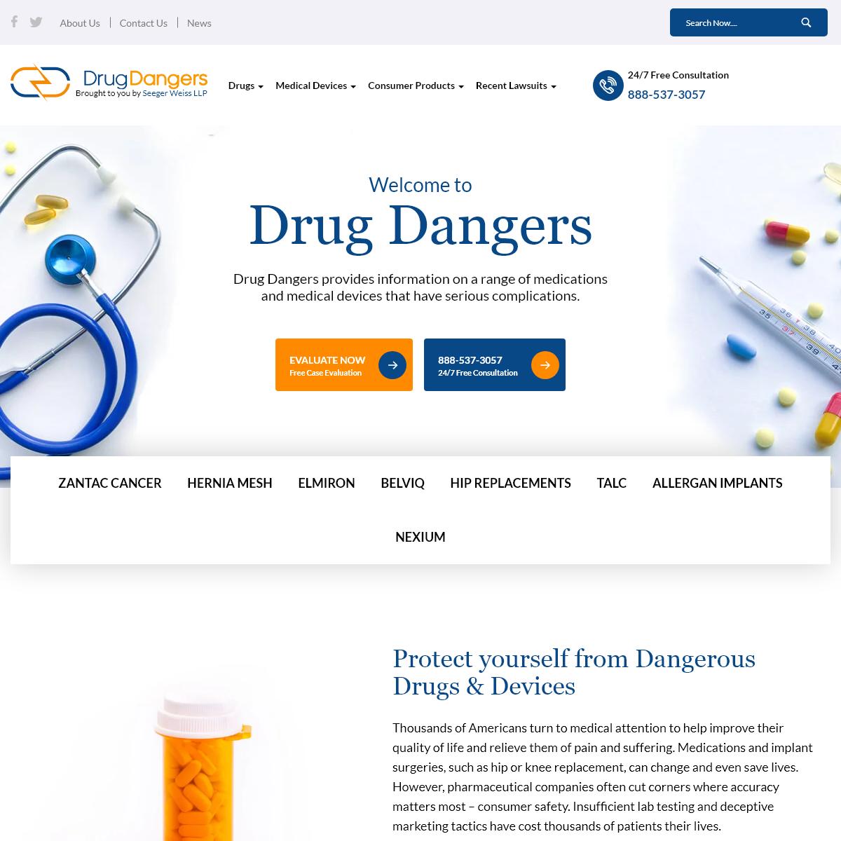 Drug Dangers - Drug & Medical Device Side Effect & Lawsuit Information