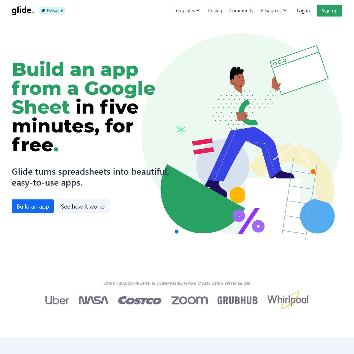 Build an app from a spreadsheet in five minutes, for free • Glide