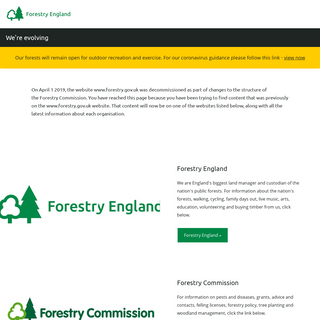 We`re evolving - Forestry England