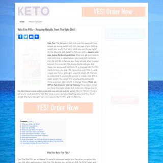Keto Fire Pills - Amazing Results From The Keto Diet! - Keto Fire Pills