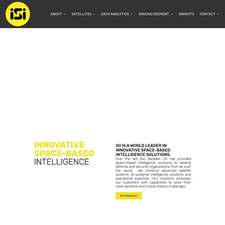 ISI – Geospatial Solutions & Services – Imagery, Data, Analytics - ISI