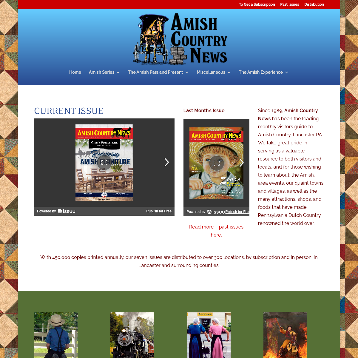Amish News - Leading monthly visitors guide to Amish Country, Lancaster PA