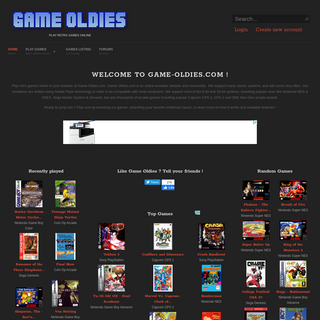 Game Oldies - Play retro games online