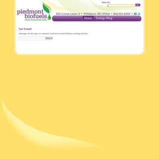 Page not found - Piedmont Biofuels