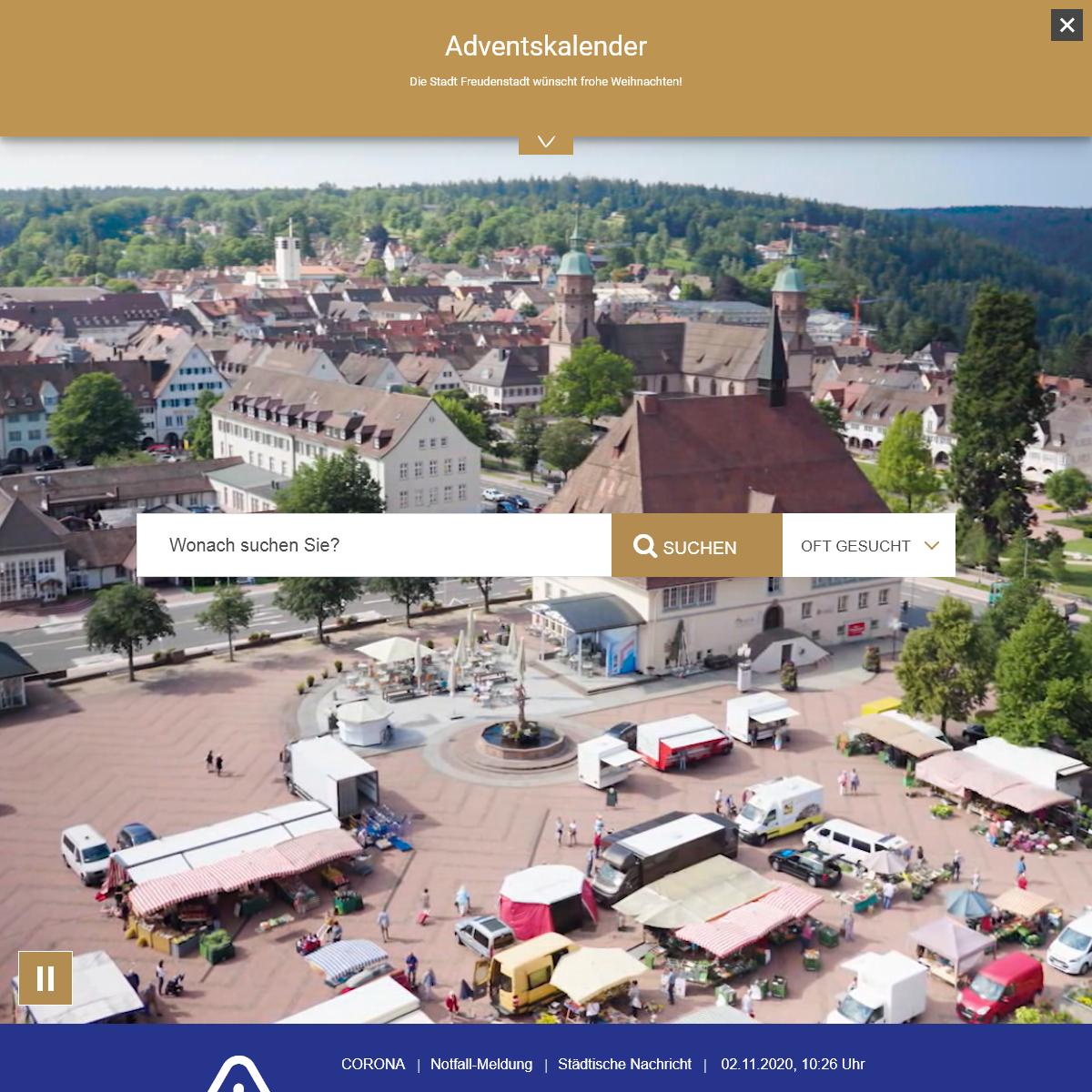 Willkommen - Stadt Freudenstadt