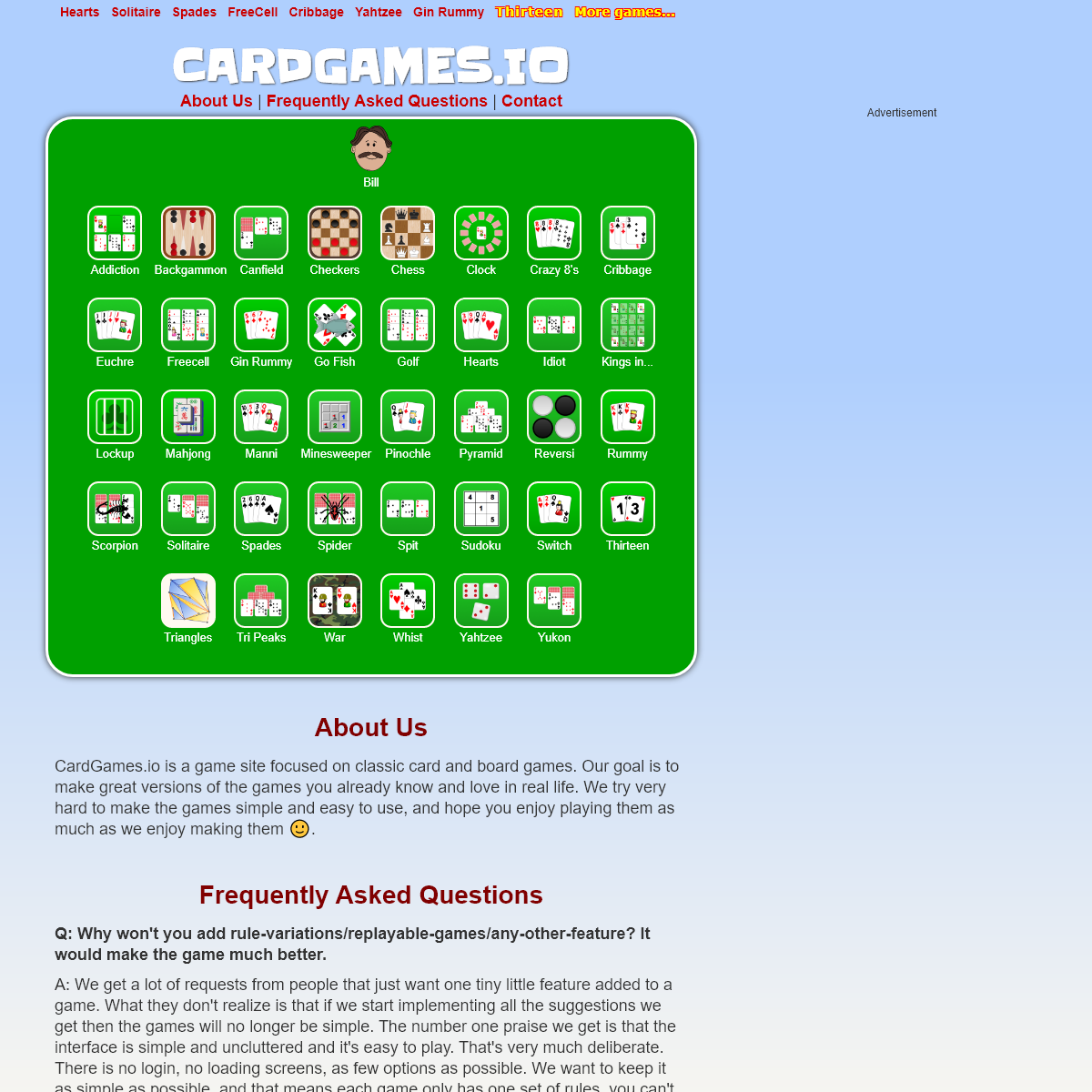 CardGames.io - Play all your favorite classic card games.