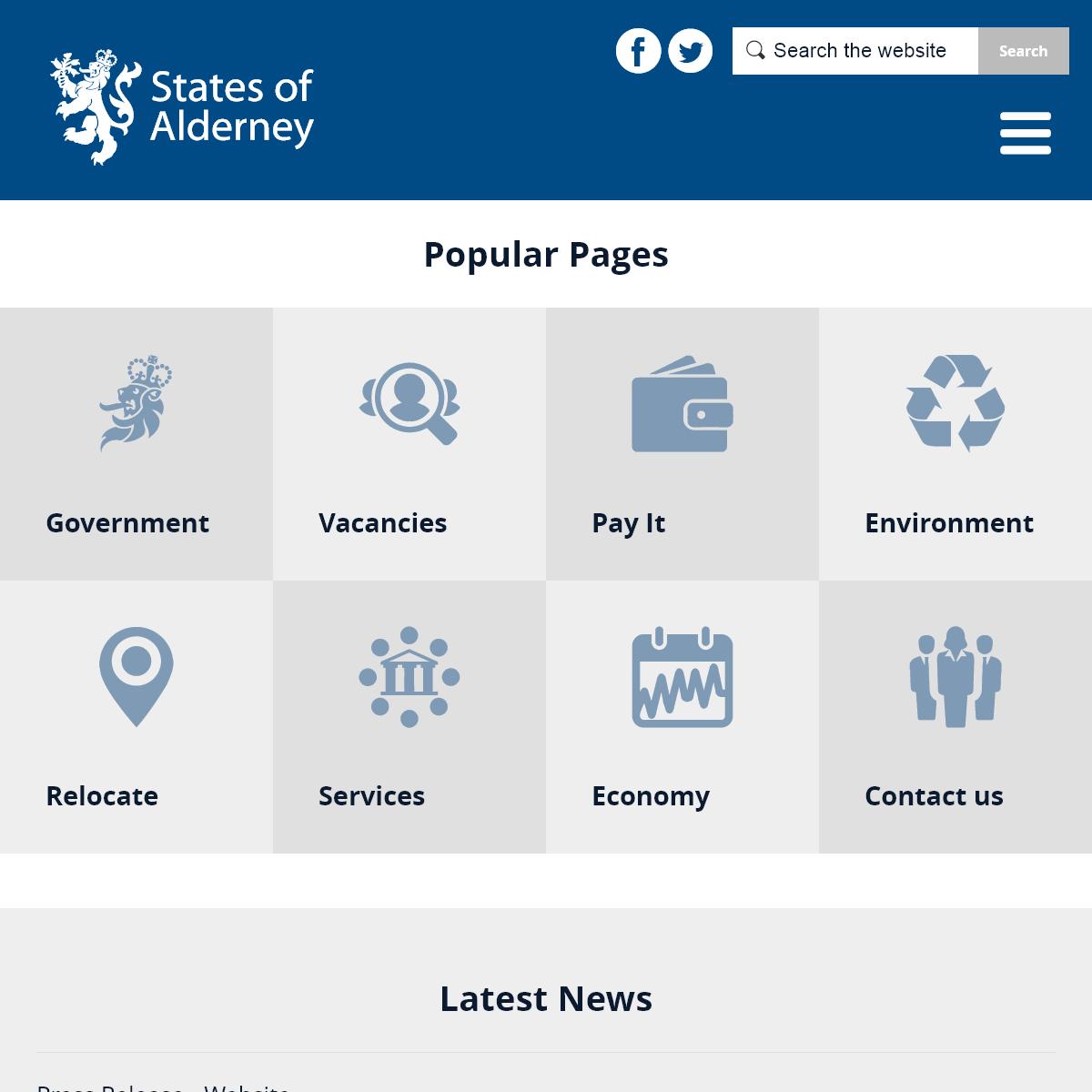 States of Alderney Home Page - States of Alderney