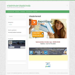 e-lastminute Utazási Iroda – Utazási irodák akciós és lastminute ajánlatai.