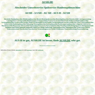 aush Abscheider Umweltservice Spülservice Haubenspülmaschine Spülmobil Verleih Geschirrmobil Mieten