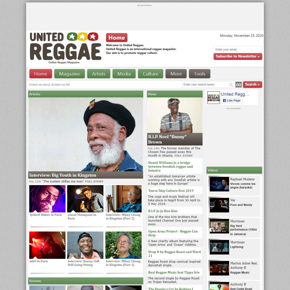 Reggae Magazine - United Reggae