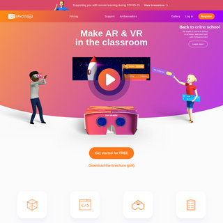 CoSpaces Edu for kid-friendly 3D creation and coding