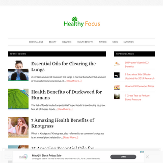 Healthy Focus - A Focus on your Health