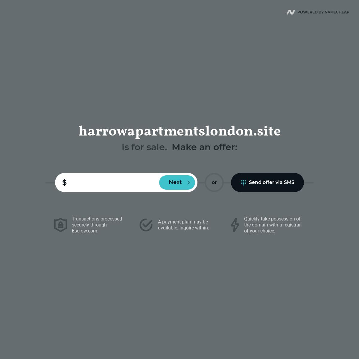 harrowapartmentslondon.site is for sale