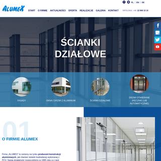 Alumex - producent konstrukcji aluminiowych - Warszawa