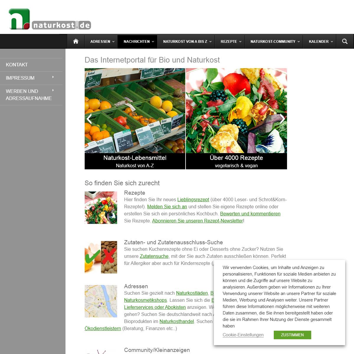 Das Internet-Portal für Bio und Naturkost