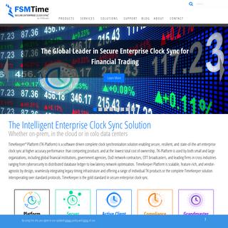 FSMTime Secure Enterprise Clock Sync