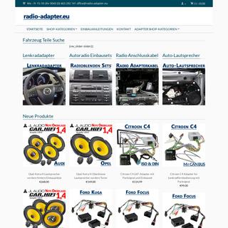 Radio-Adapter Lautsprecher und Autoradio Shop