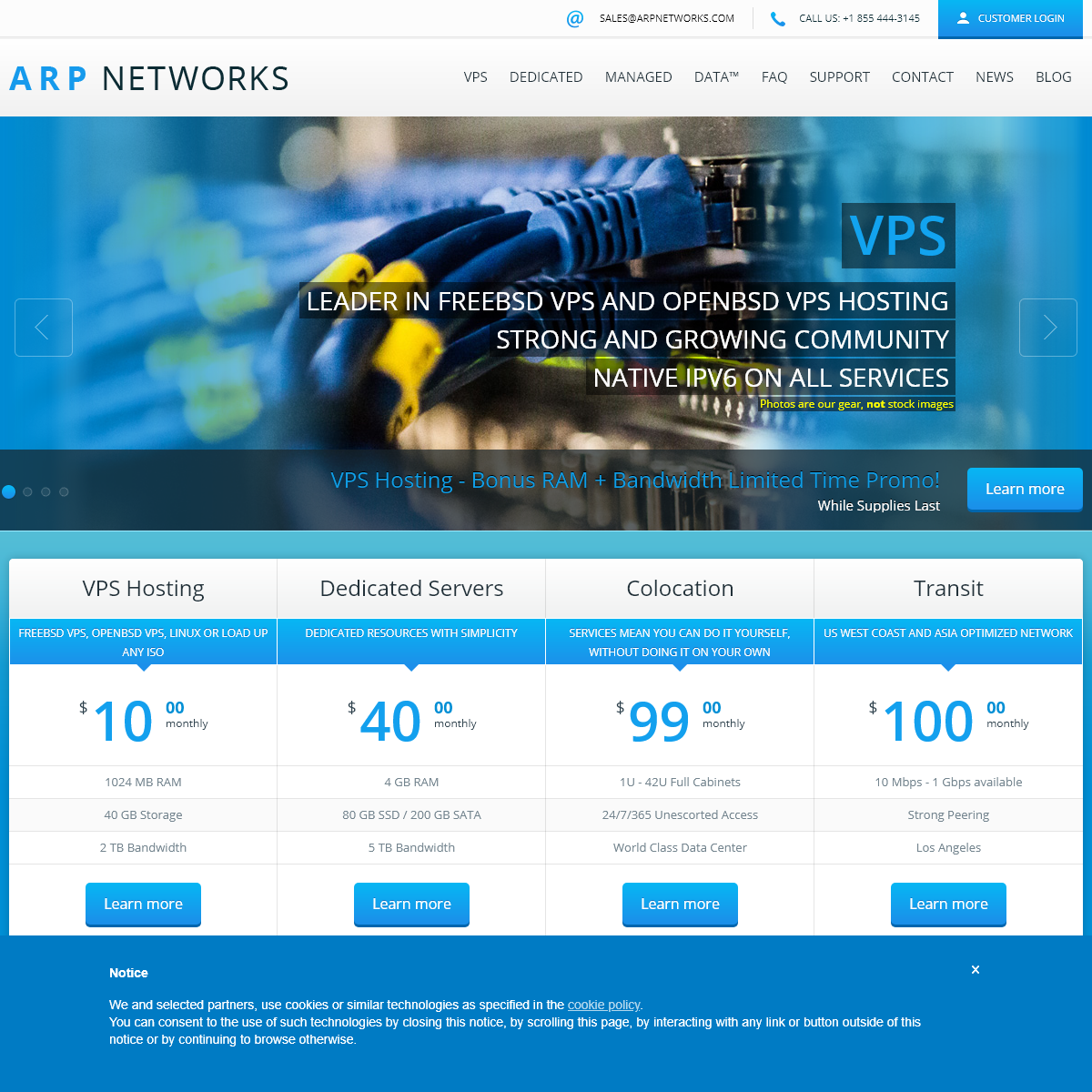 FreeBSD VPS, Dedicated Servers, Colocation - ARP Networks