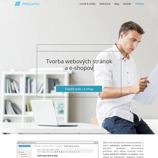 Webové stránky a e-shop - WebĽahko