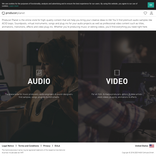 Producer Planet - The online store for audio & video content