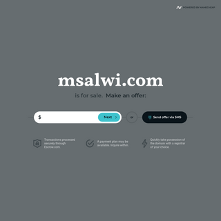 msalwi.com is for sale