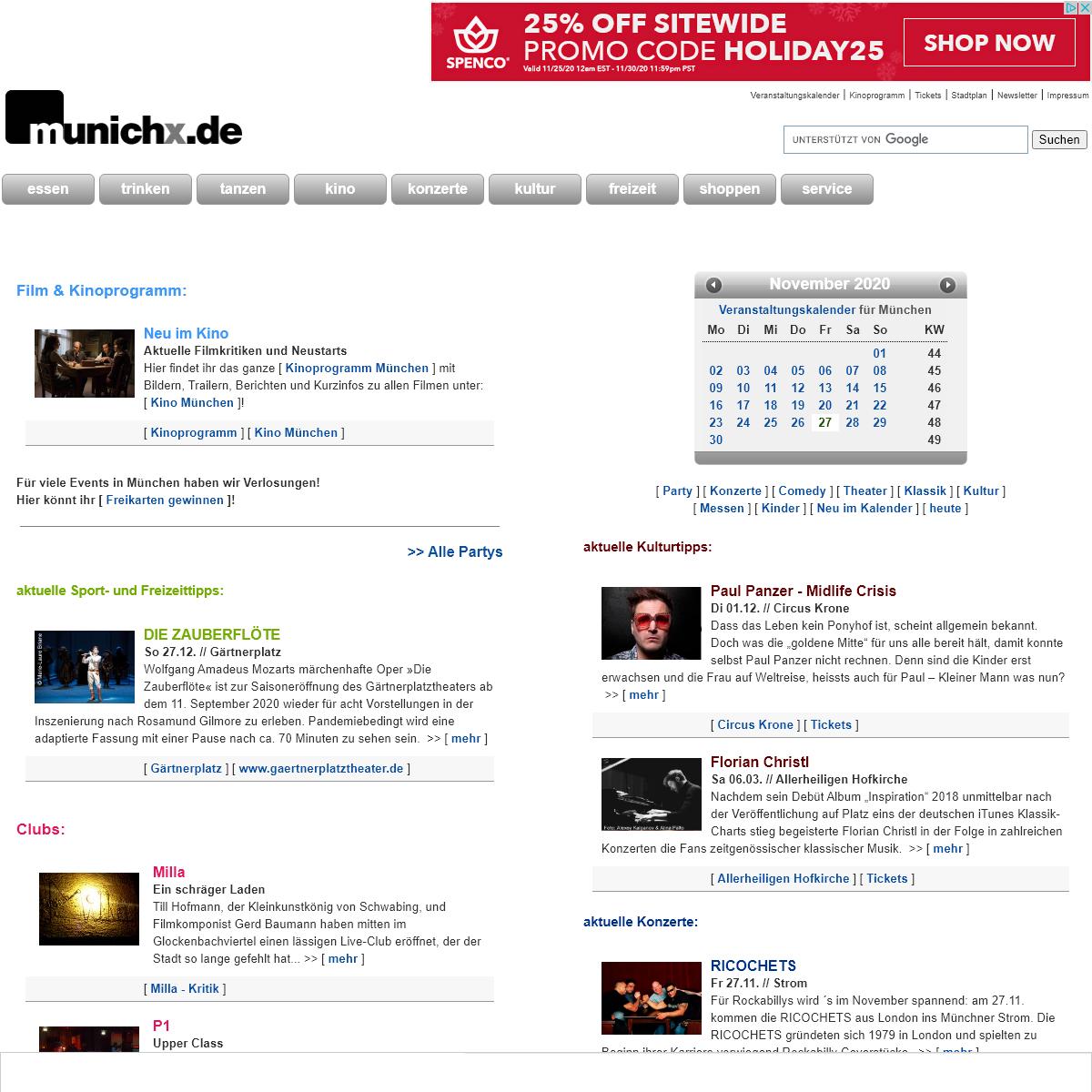 munichx - Stadtmagazin München- Kino, Party, Konzert, Tickets, Singles, Flirten