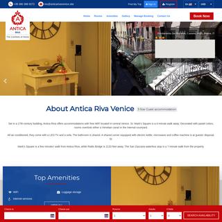 Official Web Rates- Antica Riva Venice, Guest accommodation Venice Veneto