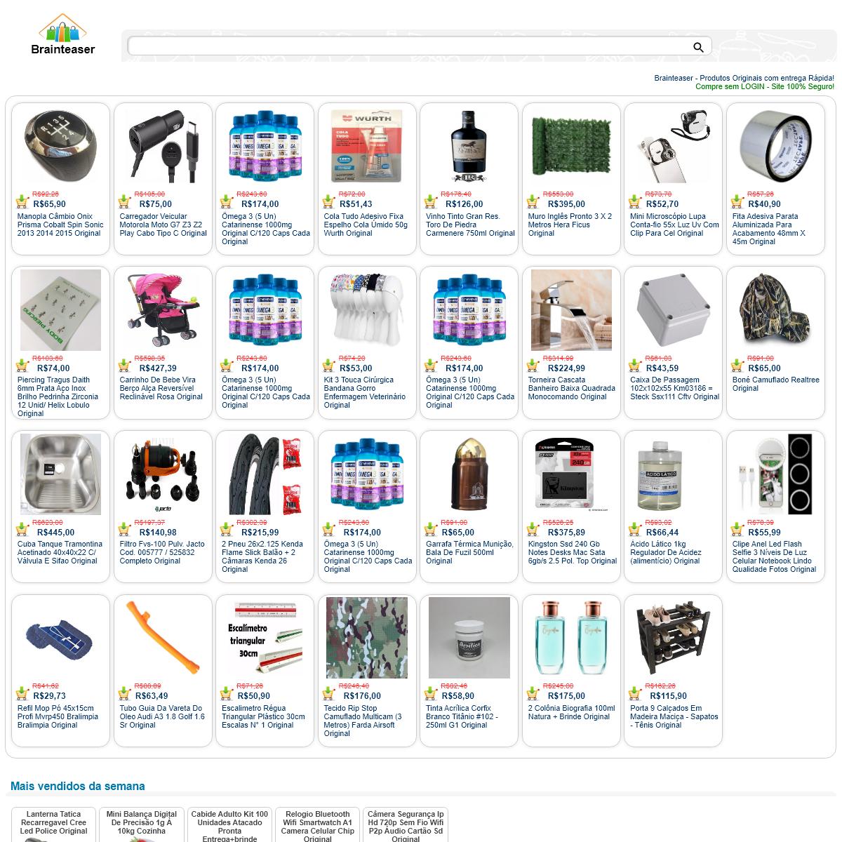 www.brainteaser.com.br - Produtos Originais com entrega Rápida! - Compre sem LOGIN - Site 100- Seguro!