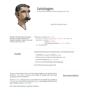 A complete backup of leiningen.org