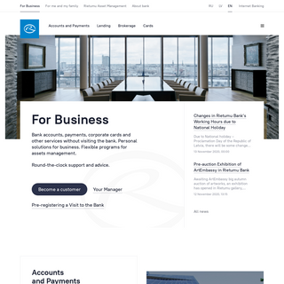 Rietumu Banka - for business and private banking.