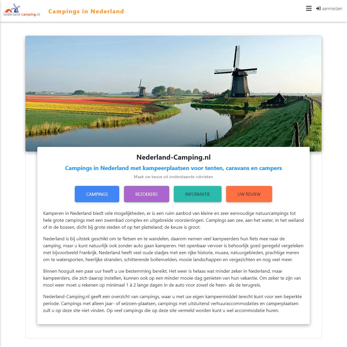 Campings in Nederland - Nederland-Camping.nl
