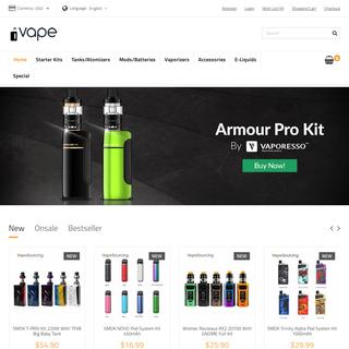 Vape & Smoke Shop Online, Shopping for the Best Vape Kits, Tanks, Mods, E-liquids Online Store