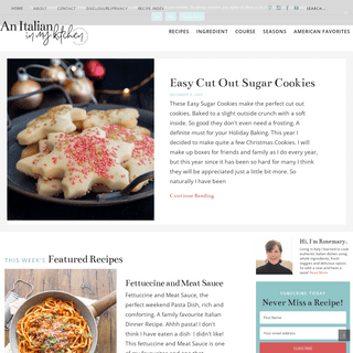 Authentic Italian Recipes - An Italian in my Kitchen
