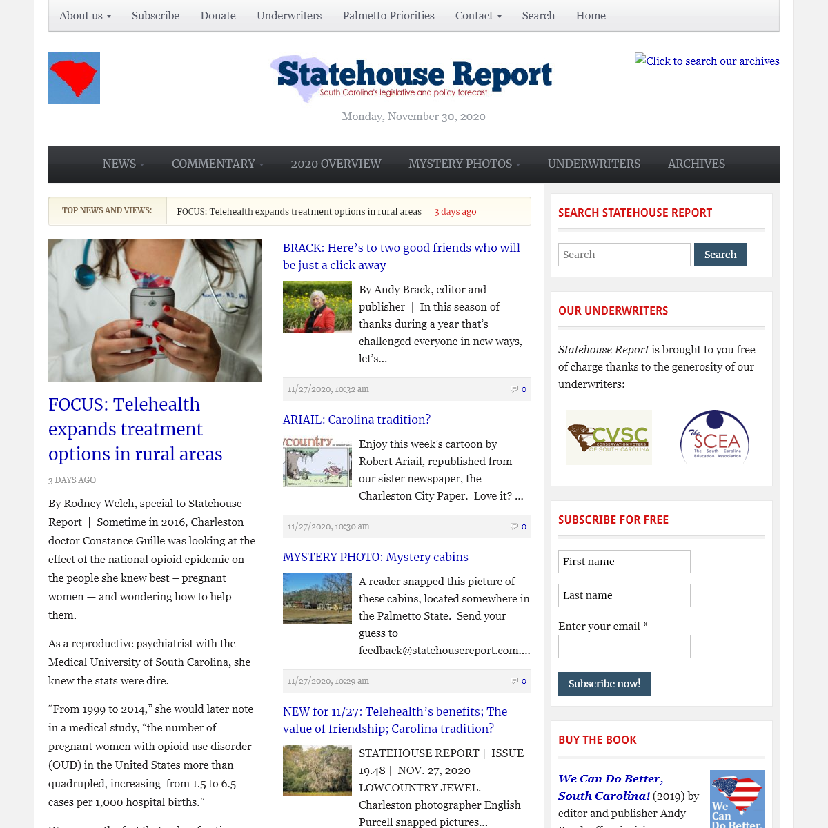Statehouse Report - South Carolina`s leading online legislative and policy forecast