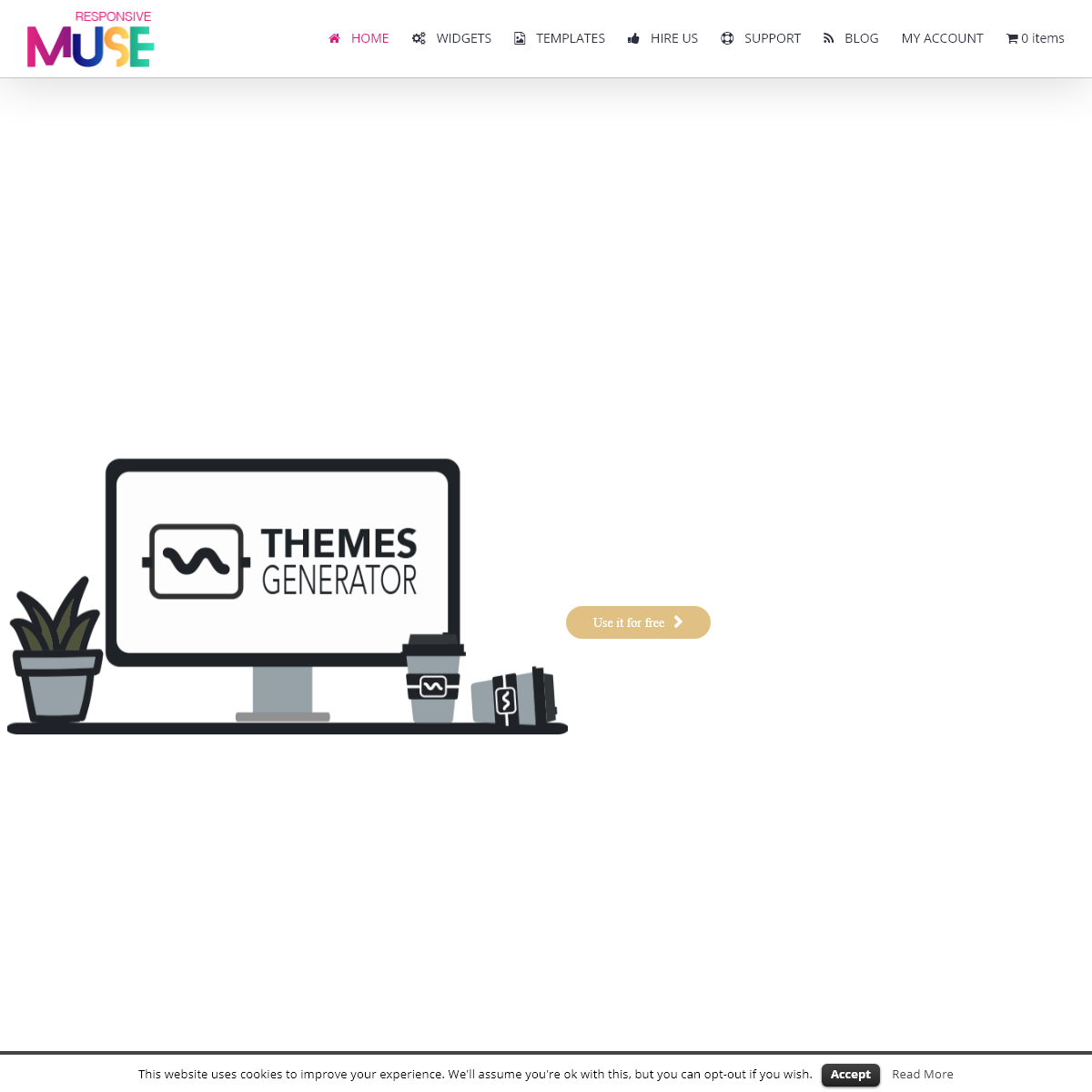 Adobe Muse Templates & Widgets