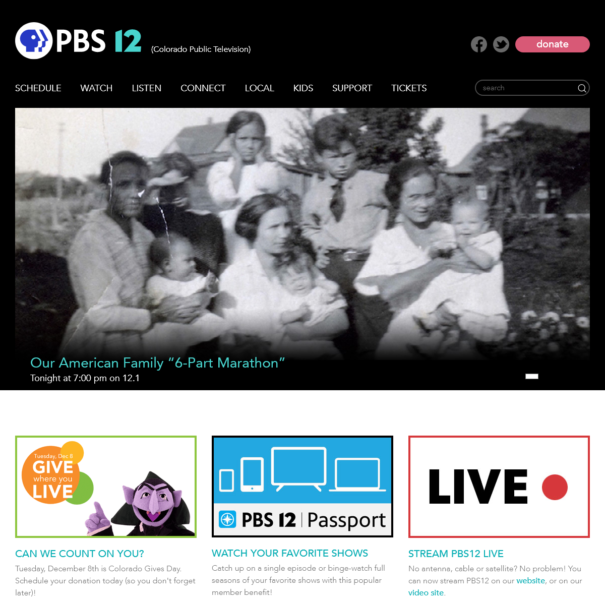 PBS12 (formerly Colorado Public Television)- Home