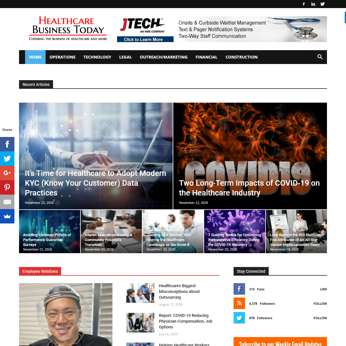 Home Page - Healthcare Business Today