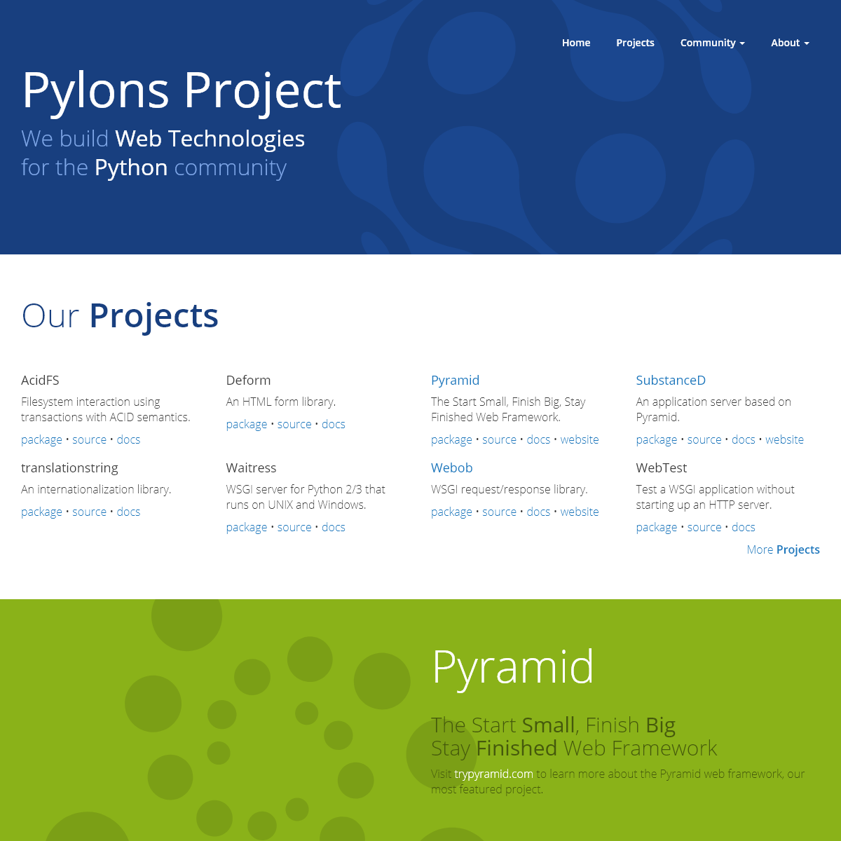 Welcome to the Pylons Project