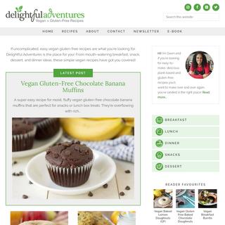 Easy Vegan & Gluten-Free Recipes - Delightful Adventures