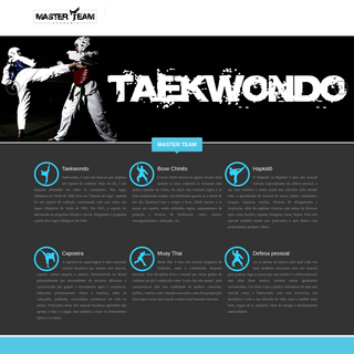 Academia Master Team - Taekwondo - - Hapkido - Box Chinês