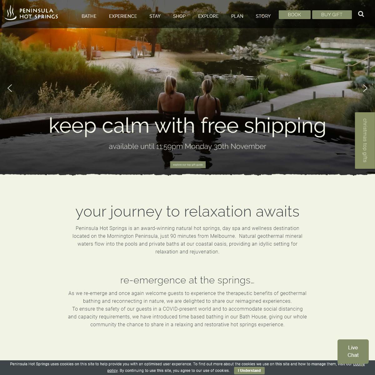 Peninsula Hot Springs, Mornington, Spa, Massage - Gift Certificates Online