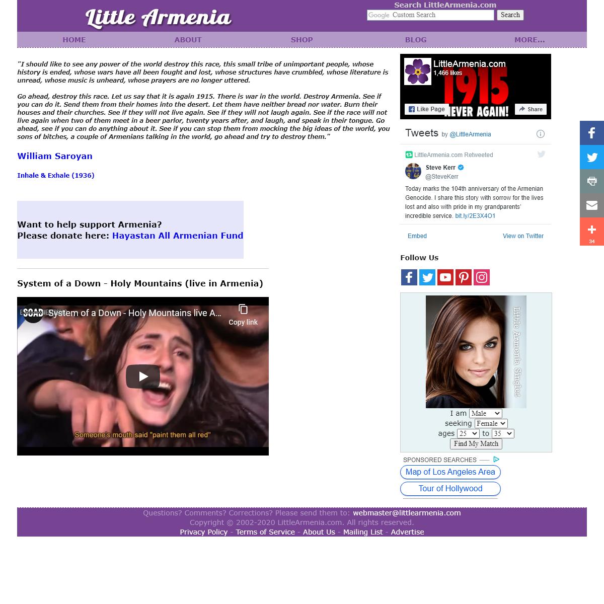 Little Armenia - Armenian Community of Hollywood, Los Angeles