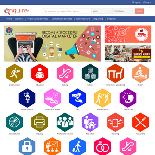 Local Search Jaipur, Yellow Pages Jaipur- Enquireus.com