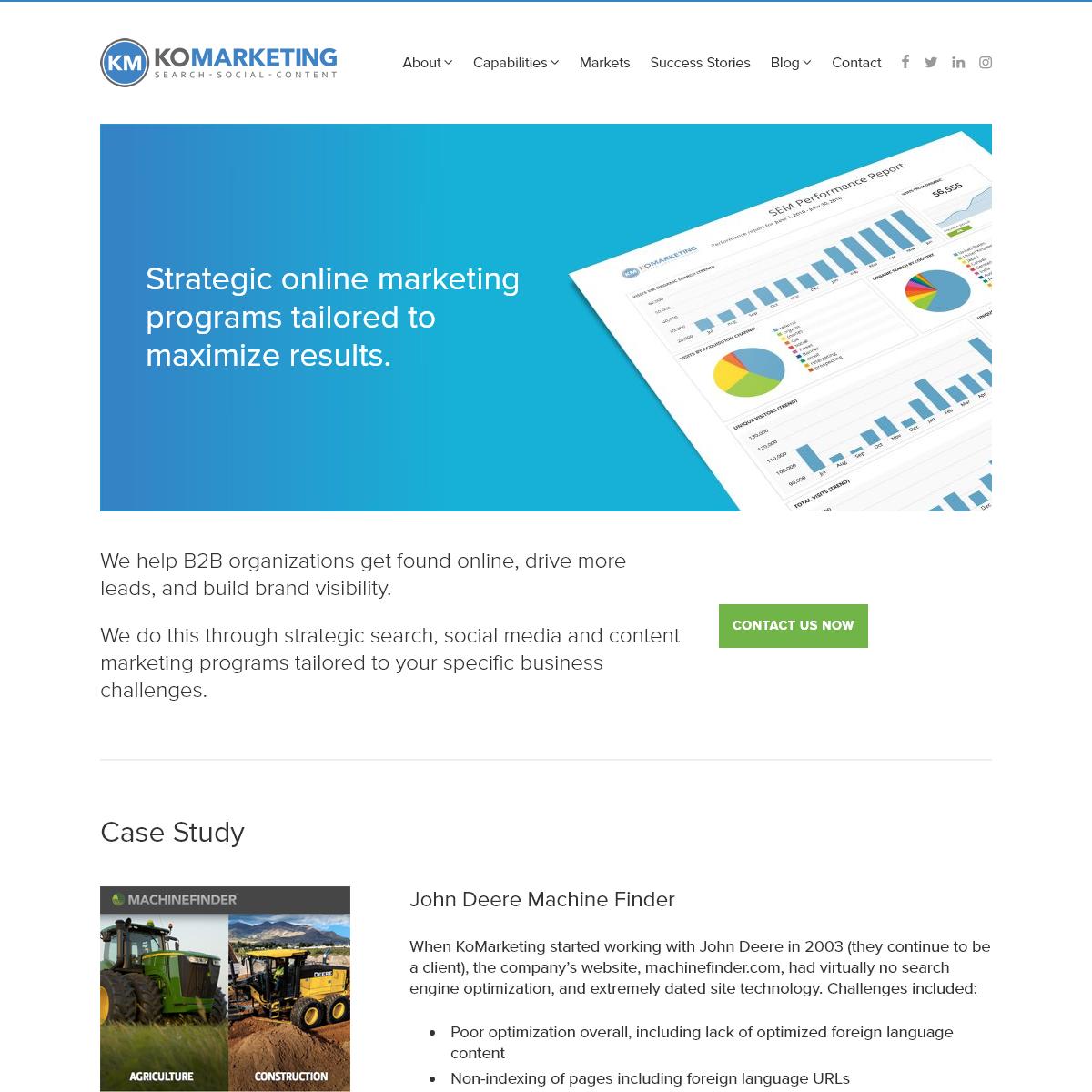 B2B Digital Marketing - Search, Social, Content - KoMarketing