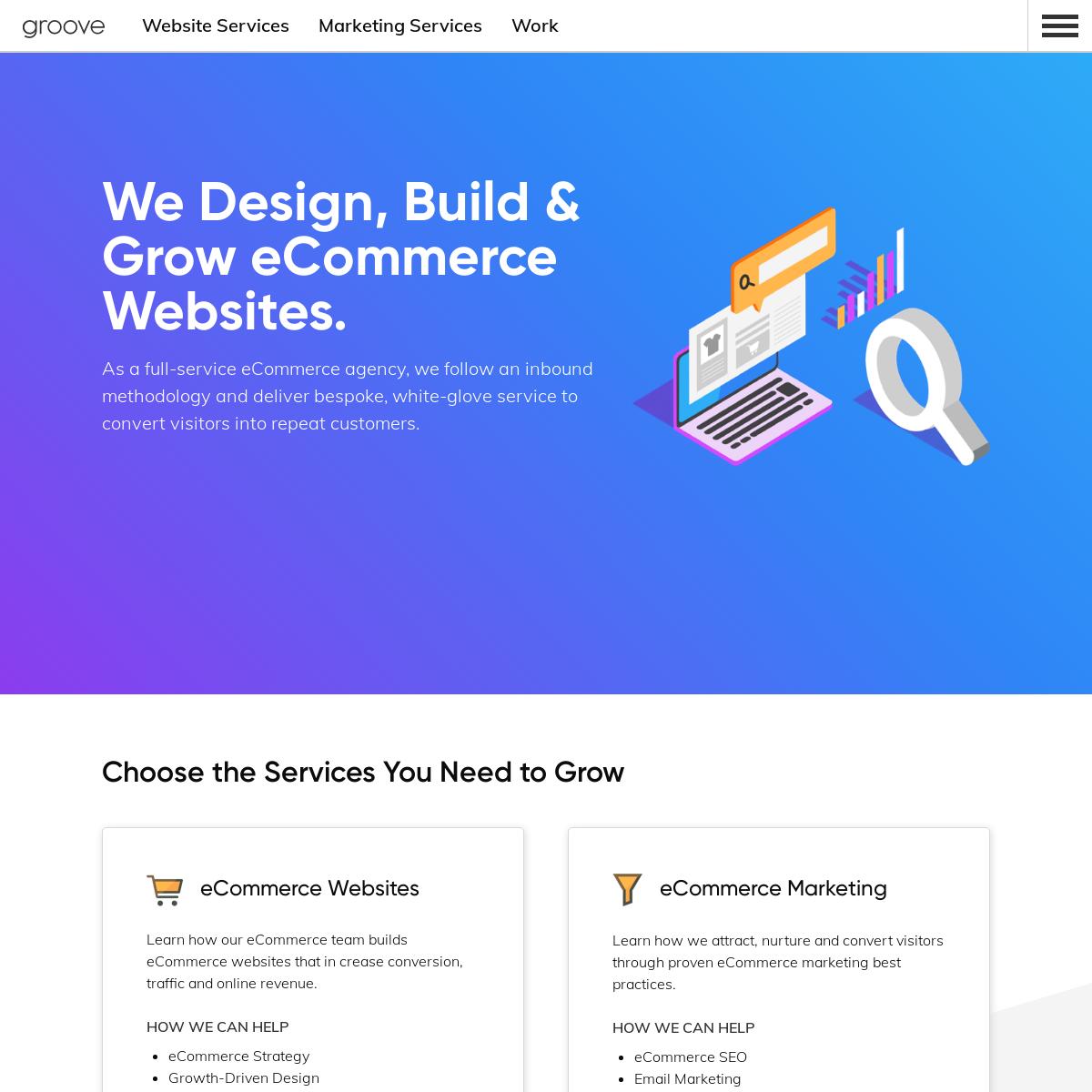 eCommerce Design, Marketing & Development - Groove Commerce