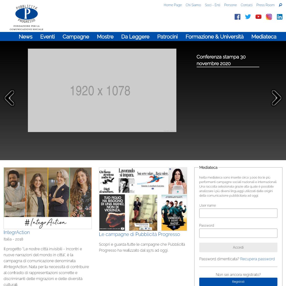 Pubblicità Progresso Fondazione per la comunicazione sociale